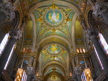 Lyon Cathedral, France - The inside Royalty Free Stock Photo