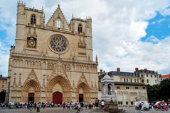 Lyon, cathedral of Saint Jean Royalty Free Stock Images