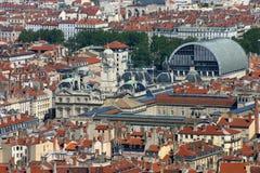 Lyon Center. Lyon city hall and Opera Stock Photo