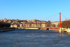 Lyon city. View of city Lyon, France Royalty Free Stock Photography