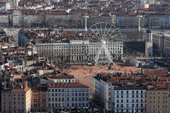 Lyon City center Royalty Free Stock Photography
