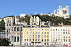 Lyon city with famous basilica Stock Image