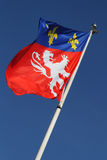 Lyon city flag royalty free stock images