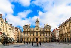 Lyon city hall, Lyon, France. View of Lyon city hall and the blue sky Royalty Free Stock Photo