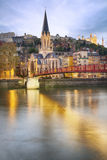 Lyon city by night Royalty Free Stock Photography