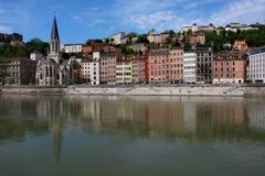 Lyon cityscape Royalty Free Stock Photo