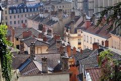 Lyon-Dächer Lizenzfreies Stockfoto