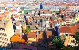 Lyon, daken Royalty-vrije Stock Afbeelding