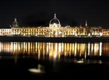 Lyon de Night Imagenes de archivo