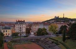 Lyon at dusk Stock Image