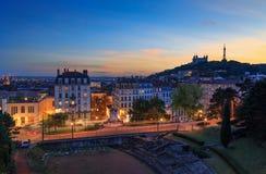 Lyon at dusk Stock Photos