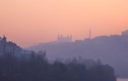 Lyon dusk Stock Images
