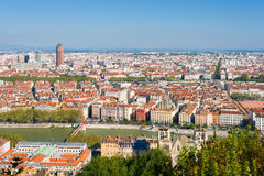 Lyon an einem sonnigen Sommertag Stockbild