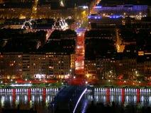 Lyon em a noite Foto de Stock