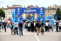 Lyon fan zone Stock Photos