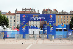 Lyon fanzone Stock Photos
