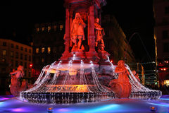 Lyon festival of Lights royalty free stock photo