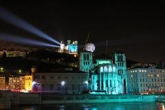 Lyon festival of Lights royalty free stock photography