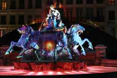 Lyon festival of Lights Stock Photography