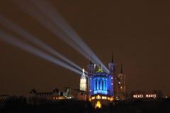 Lyon festival of Lights Stock Images