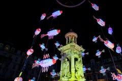 Lyon Festival of Lights 2008 Stock Photos