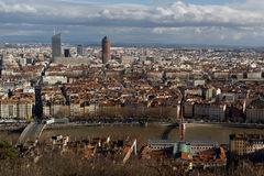 Lyon from Fourviere Hill Stock Images