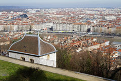 Lyon from Fourviere Hill Stock Photo