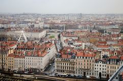 Lyon, France. Aerial and panoramic view. Stock Images