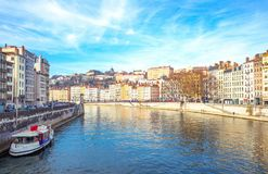 Arhitectures in the old town of Lyon Royalty Free Stock Photography
