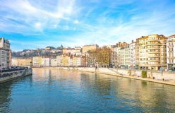 Arhitectures in the old town of Lyon Stock Photo