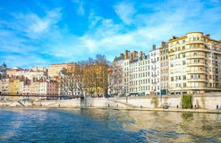 Arhitectures in the old town of Lyon Royalty Free Stock Images
