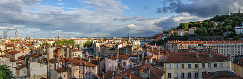 Lyon France high definition scenic panorama Royalty Free Stock Image