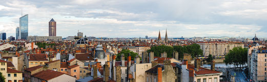 Lyon France high definition scenic panorama Royalty Free Stock Photography