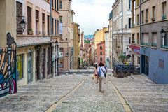 The old town in city of Lyon