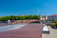 Pedestrian bridge in Lyon
