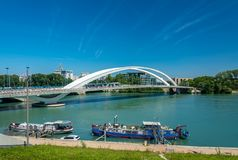 The riverside of the Rhone in Lyon, France