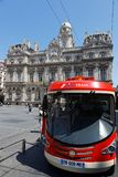 The brand new Lyon City Tram royalty free stock image