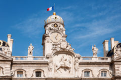 LYON, FRANCE - MAY 19: The roof of City Hall on Place des Terreaux. UNESCO World Heritage Royalty Free Stock Photography