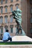 Lyon, France - MAY 19: Sculpture on Louis Pradel square. Stock Photos