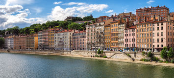 Lyon France old buildings in the historic city Royalty Free Stock Photography