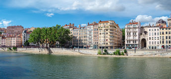 Lyon France old buildings in the historic city. Near river Saone Stock Photo