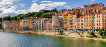 Lyon (France) old buildings Stock Image