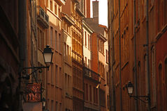 Lyon, France. The old city: narrow street Stock Photos