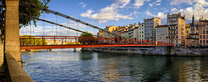 Lyon (France) Passerelle Saint-Vincent Royalty Free Stock Photos
