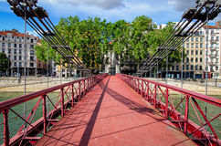 Lyon France Passerelle Saint-Vincent Royalty Free Stock Photo