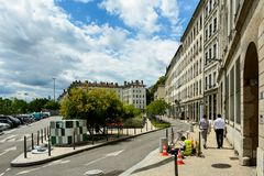 Lyon, France - residential area Royalty Free Stock Photography
