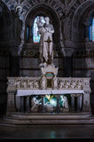 Lyon, France, statue of the basilica of Fourviere Stock Photos
