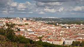 Lyon, France - View from Fourviere Hill Royalty Free Stock Photos
