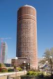 Lyon Francia - 15 de abril de 2015: La parte-Dieu del viaje es un rascacielos en Lyon, Francia El edificio sube 164,9 metros en e Fotos de archivo libres de regalías
