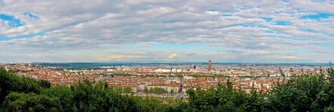 Lyon, Francia, panorama Fotografía de archivo libre de regalías